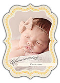 Baby Footprints Gold Ornate - Front