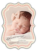 Baby Footprints Pink Ornate - Front