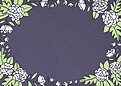 Floral Wreath Date Purple - Back