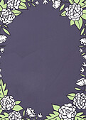 Floral Wreath Thanks Purple - Back