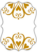 Heart Deco Ornate - Back