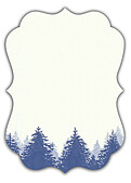 Forest Landscape Date Navy Ornate - Back