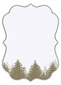 Forest Landscape Date Neutral Ornate - Back