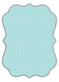 Swiss Dot Date Aqua Ornate - Back