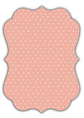 Swiss Dot Date Coral Ornate - Back