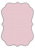 Swiss Dot Date Pink Ornate - Back
