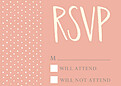 Swiss Dot RSVP Coral - Front