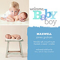 Welcome Baby Boy Square - Front