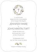 Bouquet Invitation Gray Ornate - Front