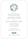 Bouquet Invitation Teal Ornate - Front