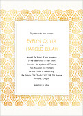 Damask Frame Invitation - Front