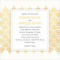 Damask Frame Invitation Square - Front