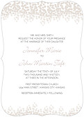 Dazzling Invitation Gray Ornate - Front