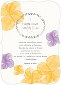 Floral Watercolor Invitation Ornate - Front
