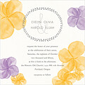 Floral Watercolor Invitation Square - Front