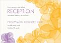 Floral Watercolor Reception - Front