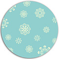 Antique Snowflakes Circle - Back