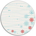 Swirling Snowflakes Circle - Back