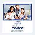 Hanukkah Wishes Blue Square - Front