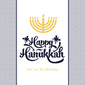Menorah Blue Square - Front
