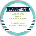 Preppy Party Turquoise Circle - Back