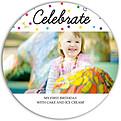 Celebrate Confetti Circle - Front