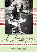 Hope Love Joy Green - Front