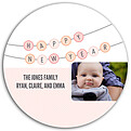 Banner Year Pink Circle - Back