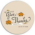 Give Thanks Beige Circle - Front