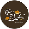 Give Thanks Chocolate Circle - Front