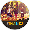 Thanks Leaves Circle - Front