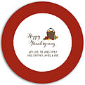 Thanksgiving Love Red Circle - Front