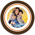 Turkey Frame Chocolate Circle - Back