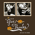 Give Thanks Chocolate Square - Front