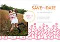 Flower Garden Date Coral Pink - Front