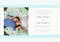 Bubbles Invitation Aqua - Front