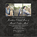 Black Damask Invite Square - Front