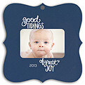 Good Tidings Blue Square Ornate - Front