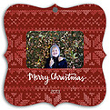 Holiday Sweater Red Square Ornate - Front