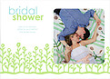 Flower Garden Shower Blue Green - Front