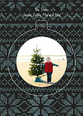 Holiday Sweater Navy Pop Circle - Back