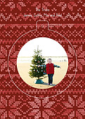 Holiday Sweater Red Pop Circle - Back