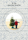 Holiday Sweater Tan Pop Circle - Back