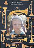 Joyous Horns Navy Pop Ornate - Back