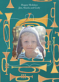 Joyous Horns Teal Pop Ornate - Back