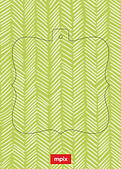 Lime Herringbone Pop Ornate - Back