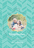 Merry Chevron Pop Circle - Front