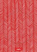 Red Herringbone Pop Circle - Back