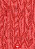 Red Herringbone Pop Ornate - Back