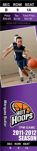 Basketball Purple - Front
